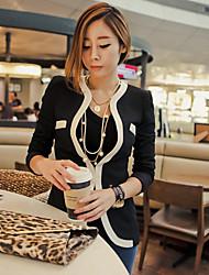 JIANFANSU women's korean style black and white suit