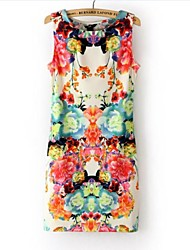 Women's Print Flower Mini Dress