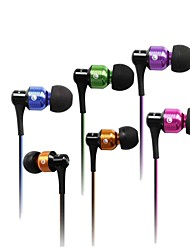 Fashion awei 50Vi 3.5mm Plug In-Ear Aluminium Super Bass Microfoon koptelefoon-(Vijf kleuren)