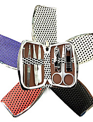 7PCS Nail Clippers Manicure Kits Within Spot Manicure Bag(Random Color)