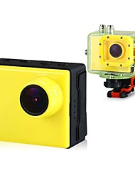 "HD1080P F28 1.5"" TFT LCD Screen 5.0Mega Pixel 170-degree Wide Angle Lens Waterproof Sports Video Camera (Yellow)"