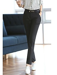 Hanyiou® Women's The waist The straight cylinder Leisure time Western-style trousers