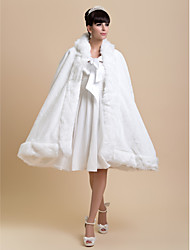 Fur Wraps / Wedding  Wraps / Hoods & Ponchos Capes Faux Fur Ivory Wedding / Party/Evening