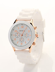Cdong Korean Sports Silicone Watch (White)