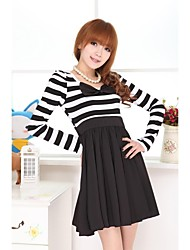 Women's Black And White Stripe Dress