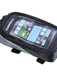 Bike BagBike Frame Bag / Cell Phone Bag Reflective Strip / Dust Proof / Skidproof / Touch Screen Bicycle BagPU Leather / PVC / 600D
