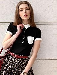 Turn-Down col de Veri femmes Gude ® style Slim Colombie-Fit T-shirt occasionnel