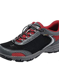 Men's Spring Summer Fall Comfort Nylon Outdoor Athletic Flat Heel Lace-up Grey Black and Red Green Hiking
