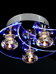 lustre de cristal levou moderno vivendo 3 luzes