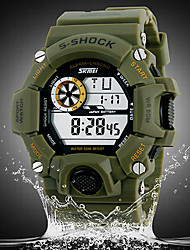 SKMEI® Men's Watch Military Sports Multi-Function LCD Water Resistant/Water Proof Chronograph Calendar Shock Resistant  Cool Watch Unique Watch