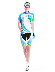 MYSENLAN Bike/Cycling Jersey + Shorts / Clothing Sets/Suits Women's Short Sleeve Breathable / Quick Dry / Wearable / WindproofCotton /
