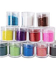 12 Colors Glitter Powder Nail Art Decorations(6.5gx12)