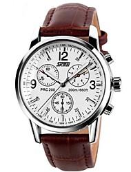 SKMEI® Men Leather Strap Business Calendar Wrist Watch 30m Waterproof Cool Watch Unique Watch