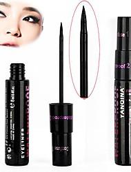 1 PCS Smooth Waterproof Liquid Eye Liner Make Up Cosmetic Black Eyeliner Black Casing 10813