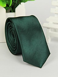Masculina Moda Verde Escuro gravata