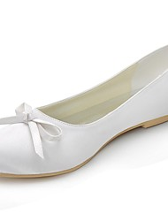 Satin Women's Wedding Ballerina Flats with Bowknot Shoes(More Colors)