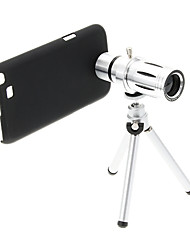 Zoom 12X Telephoto Metal Cellphone Lens with Tripod for Samsung Note2