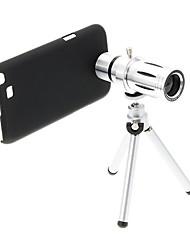 Zoom 12X Teleobjetivo metal Celular lente con el trípode para Samsung Nota 2