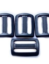 Ajustador da correia de bagagem da curvatura da corrediça 25 milímetros - preto (4 peças Pacote)