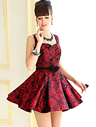 DABUWAWA Waist Sleeveless Dress-44