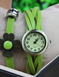 Werolex Flower Leather Alloy Watch WB0513043