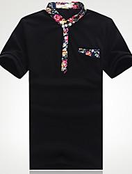 Homens Debe gola manga curta T-shirt