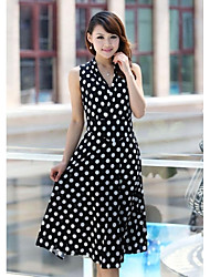 Women's Fashion Sleeveless Print Pattern Dress