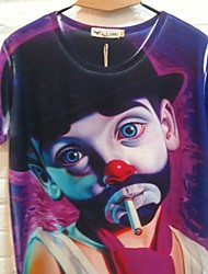 GIANNY Men'S 3D Printing Colorful Clown Pattern T-Shirts