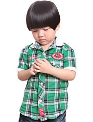 Happybayby Controllare l'usura risvolto manica corta ricamo shirt per bambini