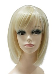 Capless Synthetic Short Blonde BOBO Full Wig