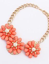 Maki Flower Exaggerate Fresh Peach Necklace