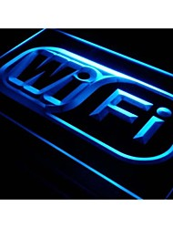 i373 Wi Fi Logo Free Internet Services Neon Light Sign