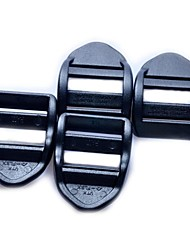 Luggage Strap Adjuster Tension Ladder Lock Buckle 20mm - Black (4-Pieces Pack)
