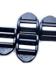 Sangle Ajusteur de tension Ladder boucle de serrure de 20 mm - Noir (4-pièces Pack)