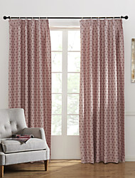 Modern Two Panels Novelty Pink Bedroom Polyester Panel Curtains Drapes