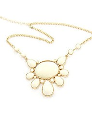 Elegant Flower Design Alloy with Resin Necklace
