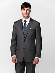 grigio scuro 100% lana su misura fit tre pezzi
