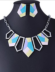 Fashion Multicolor Gem (Necklaces&Earrings) Gemstone Jewelry Sets