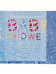 Personalized Blue Baby Shower Cards - Set of 12