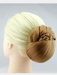 Ladylike Hand Make Light Brown Color Synthetic Chignon 2 Piece Each Pack More Color Available