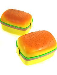 Plastic Hamburger Shaped Lunch Box
