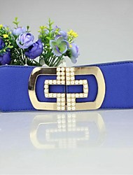 Women's Fashion Joker Metal Pearl Belt