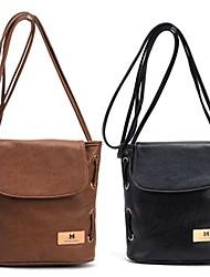 Women's  Fashion Candy Color Handbag Leather Cross Body Shoulder Bag Bucket Bag Messenger