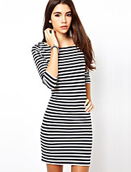Women's Dresses , Cotton Casual/Work BAD GIRL