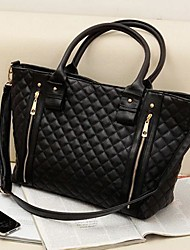 Women's Fashion Office Lady Quilted Shoulder Tote Bag Handbag