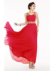 Women's Sleeveless Chiffon Maxi Dress