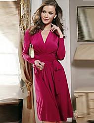 Nouveau style de Coco Zhang femmes robe sexy col V à manches longues