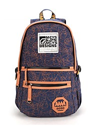 Mulheres Impresso Moda Casual Backpack Laptop