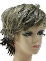 Capless Synthetic Short Mixed Color Short Wave Synthetic Hair Wig