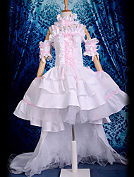Inspired by Chobits Chii Anime Cosplay Costumes Cosplay Suits / Dresses Lace White Sleeveless Dress / Collar / Sleeves / Armlet